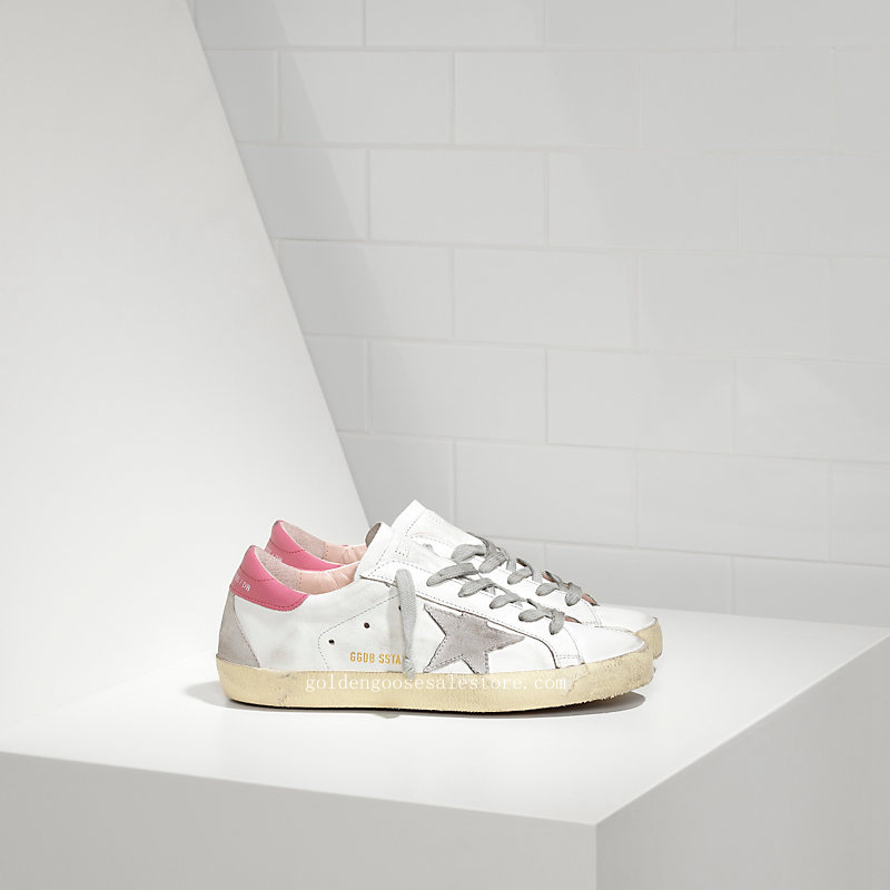 Golden Goose Deluxe Brand Super Star Couples Shoes White Pink